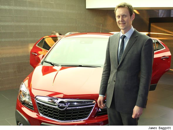 Vuaxhall Mokka and Vauxhall UK Chairman and MD Duncan Aldred