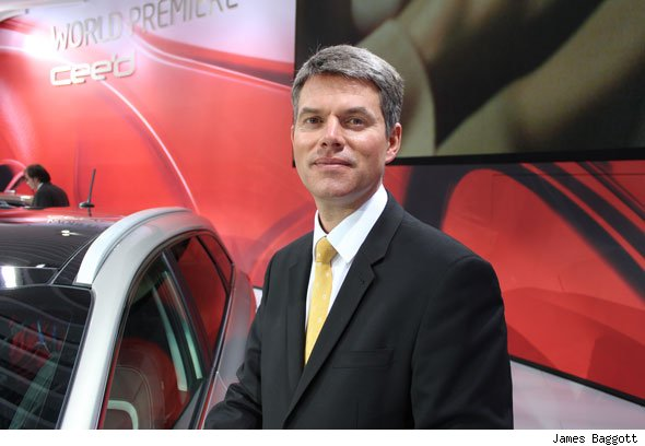 Kia UK president Paul Philpott