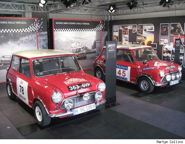 Classic Mini rally cars