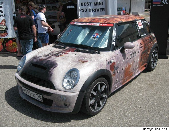 Russian wrapped MINI Cooper S