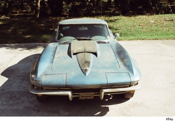a rusty old corvette has gone up for sale on ebay and with three days to go the bidding has already reached more than 1 - Rusty Old Cars For Sale
