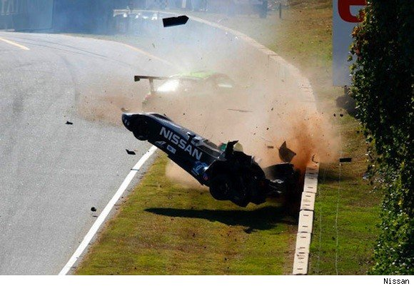 DeltaWing crashes