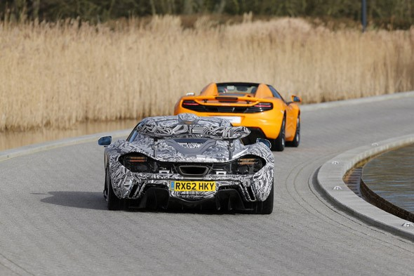 McLaren P1 hypercar makes rare appearance at Formula 1 launch