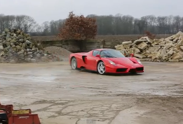 Rallying in... a Ferrari Enzo!