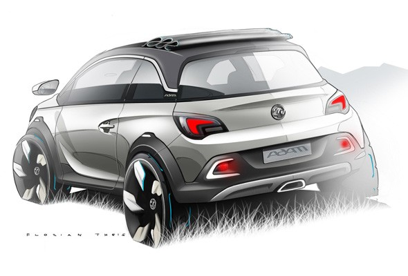 Vauxhall Adam Rocks concept teased