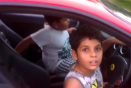 Video: Nine-year old takes dad's Ferrari for a spin