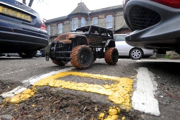 Crossing the line: Britain's shortest double-yellows appear in Cambridge
