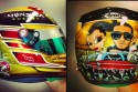 Lewis Hamilton has pooch portrait painted on helmet