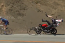 Video: Motorcycle smashes into cyclists at notorious LA biker hotspot
