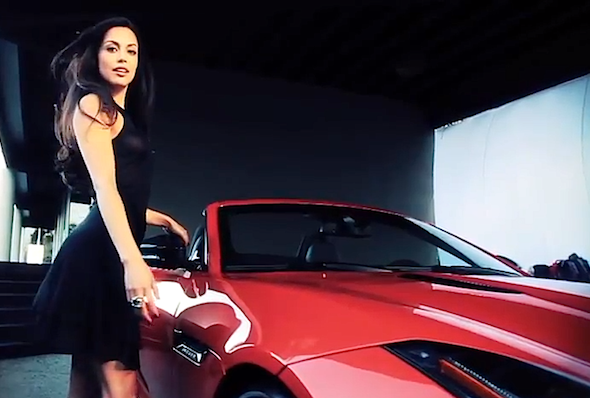 Video: Jaguar F-Type meets Playboy Playmate