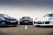 All-stars: Audi R8, Nissan GT-R and Porsche 911 go head-to-head