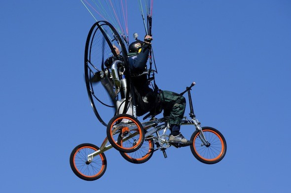Revolutionary flying bicycle could make dreaded morning commute a dream