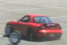 Mazda RX-7 driven so hard, the wheels fall off