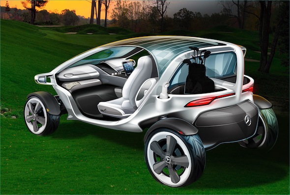 Mercedes unveils its vision for golf carts of the future for Mercedes benz golf cart