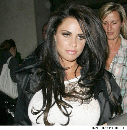 Katie Price leaving the Mayfair Hotel