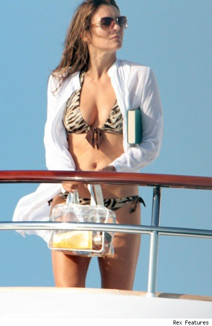 kate middleton ibiza bikini. Liz Hurley in Ibiza