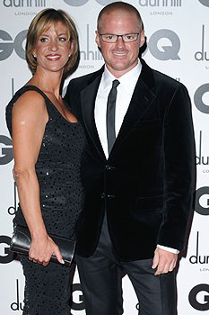 Heston Blumenthal with beautiful, Wife  Zanna Blumenthal