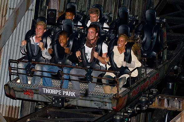 Katie Price and Danny Cipriani at Thorpe Park