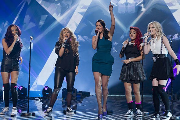 Tulisa Little Mix X Factor final