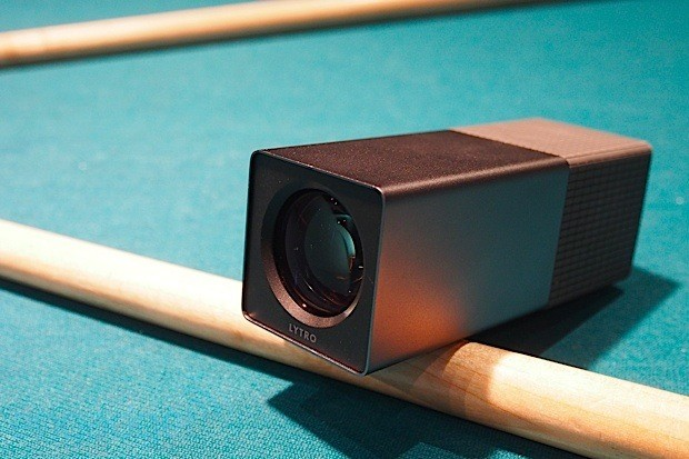 Lytro light field camera on pool cue
