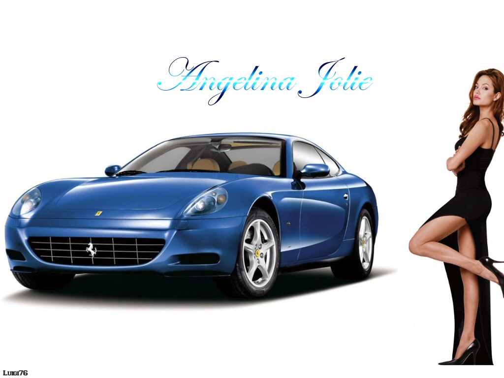 Angelina Jolie, Ferrari, Stars on Cars