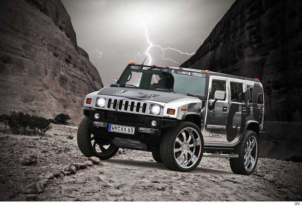 Hummer, H2, CFC, Decal, Folie, Chromfelgen, Tuning, V8