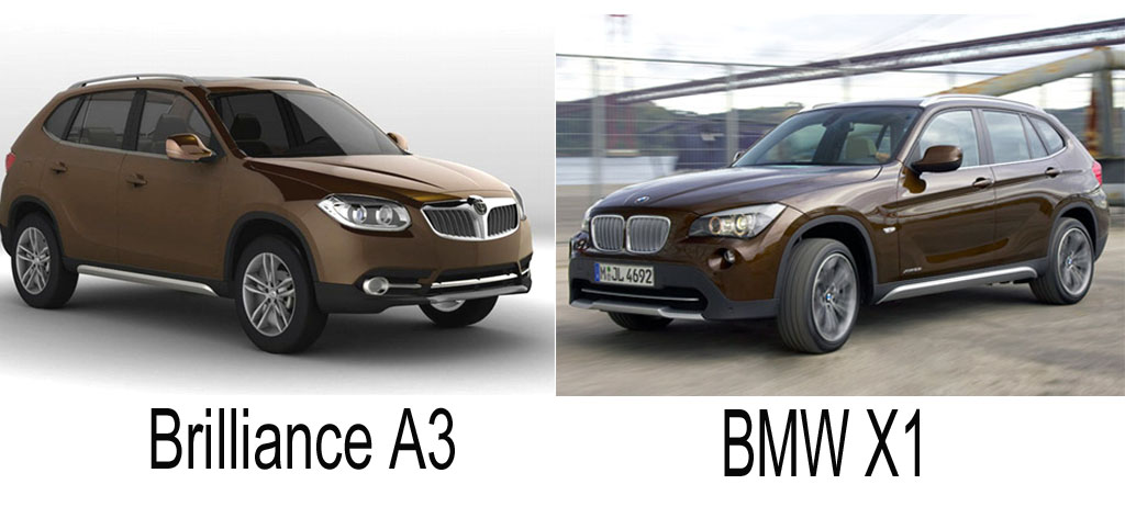 Brilliance, Kopie, China, BMW, X1, A3, Abkupfern, Fälschung, frech, kopieren, Design, klauen, BMW Group