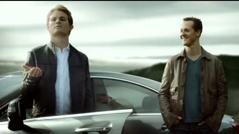Schumacher, Rosberg, Clip, Tv, Werbung, Film, Video, Lustig, Witzig, Funny, Komisch, Ad, Commercia, promo, VIP, advertisement, car, Mercedes, Mercedes-Benz, Formel 1, F1