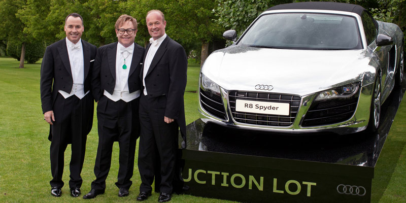Elton John, Auktion, Versteigerung,  Elton John Aids Foundation, Audi, R8, Spyder, Chrome, Prominent, Vip