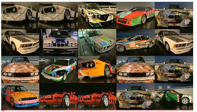 BMW, Art Car, Collection, Virtuell, Internet, Warhol, Lichtestein, Koons, Ausstellung, Exhibition, Museum, Gallerie