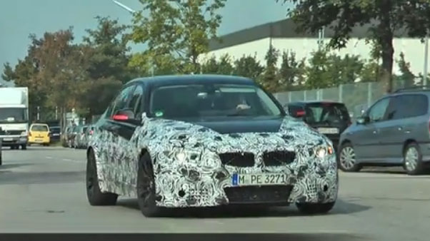BMW, M3, F80, Erlkönig, Video, Bilder, prototyp, spy shot, fotos, film, erprobung, V6, Biturbo, V8, 2014