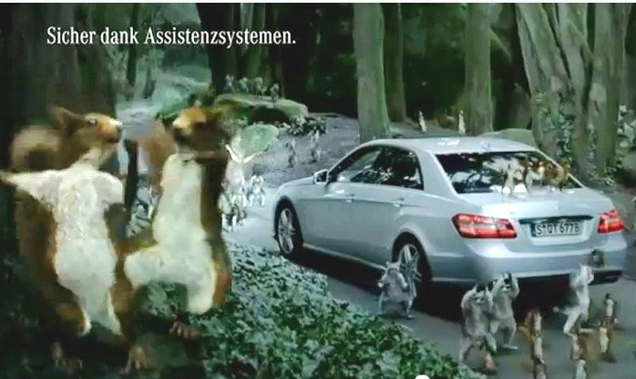 video, lustig, clip, stying alive, mercedes-benz, werbung, bee gees, sorry Video, sorry, E-Klasse, lustig, humor, witzig, komisch, funny, ad, advertisement, commercial, TV, fernsehen