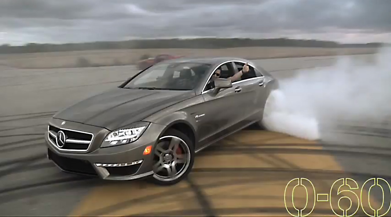 Drift, Burnout, Video, mercedes CLS 63 AMG, Mercedes-Benz,  AMG, Nissan GT-R , Rennen, Supersportwagen