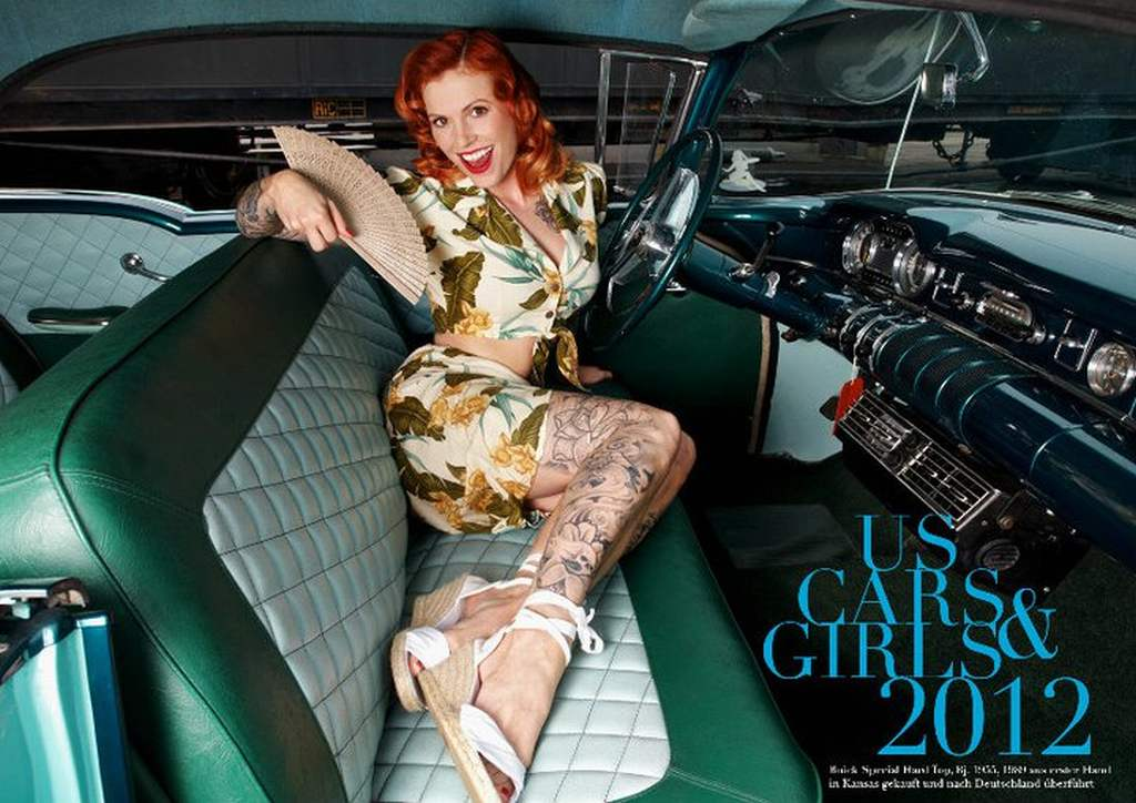 Autos, US Cars, Kalender, Sexy Girls, US Cars, US-Klassiker, US-Automobile, Autokalender, sexy, erotisch, Henry hund, Robert Hund, Pin-up