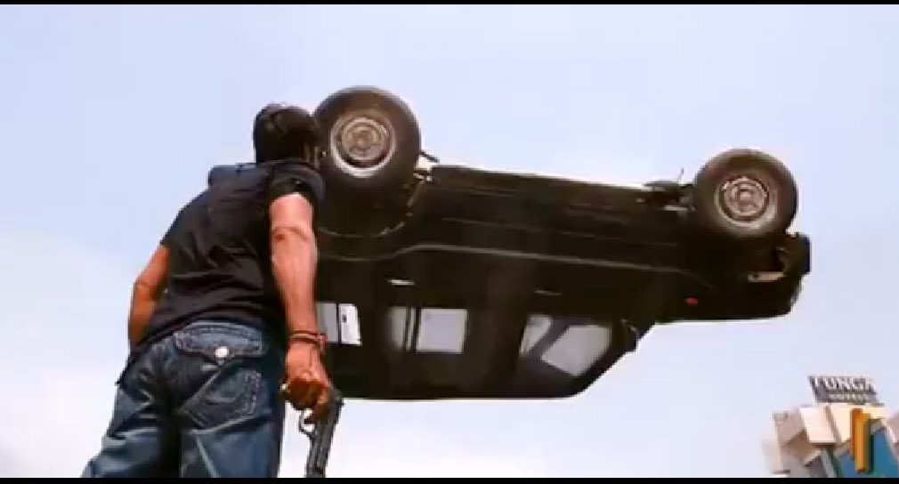 Bollywood, Blockbuster, Singham, India, indien, Video, Film, Action, Stunt, Thriller, Mahindra, Geländewagen, Trailer