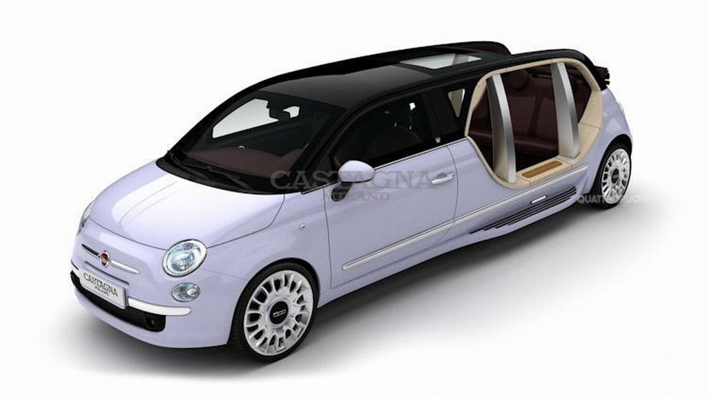 Castagnia Milano, Fiat 500, stretch, stretchlimo, stretchlimousine, Custom, Custom car, Fahrzeugumbau, Karosserie, karosseriebauer, Limocity, limosun, limocity presidental, Umbau, 