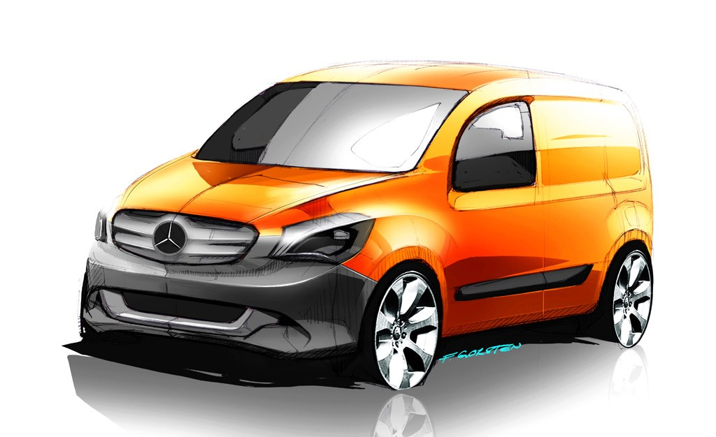 mercedes-benz, citan, stadtlieferwagen, MPv, renault, Nissan, Kooperation, City, City Lieferwagen, IAA, 2012,  Premiere bilder, grafik, Van, mini-van, mercedes