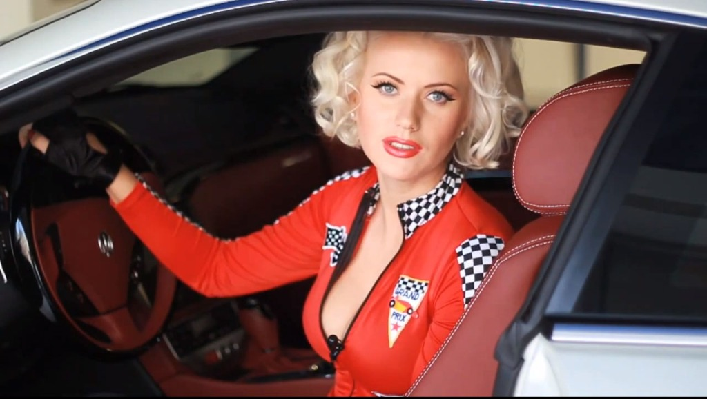 Hottie, sexy, heels, wheels, high heels, russia, russisch, girl, Maserati, sex sells, sexy, Video, stockings, auto, Sex, leg, hot, legqueen, Boxenluder, girl, grid girl,  Video, sportwagen, sexy driving,