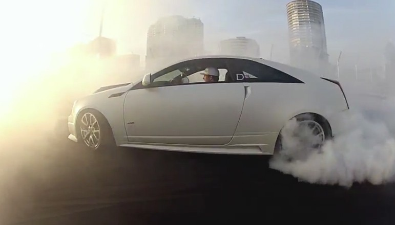 Cadillac, burnout, Video, Powerslide, Drift, J.R. Hildebrand, Tyler McQuarrie, D3 CTS-V, CTS-V, CTS-V Coupé, Video, Tuner, Tuning, Video, Vips, Motorsport, Legionär, Legionnaire