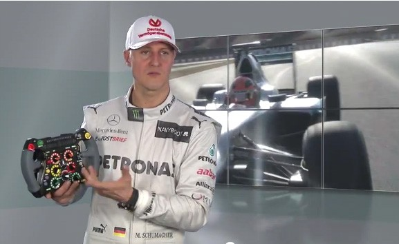 Michael Schumacher, Formel 1, F1, Lenkrad, Mercedes, Steurrad, China, Grand Prix, Rosberg, silberpfeil, Mercedes AMG Petronas, 2012, Video, Film,  Schumi