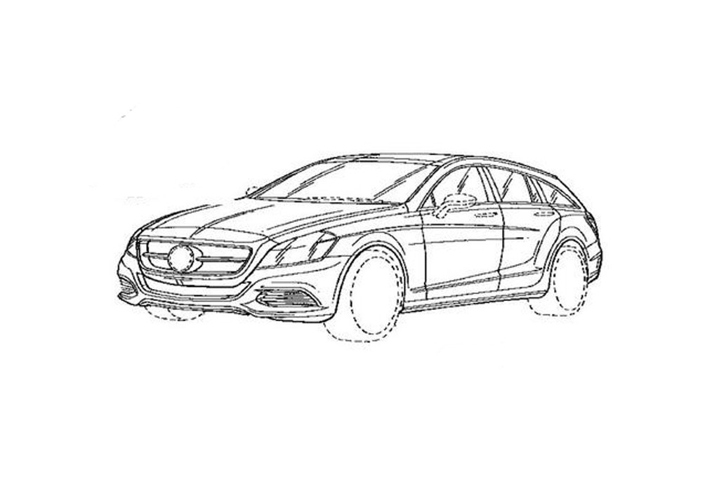 Mercedes-Benz, CLS, Shooting Brake, Mercedes CLS Shooting brake, shooting break, Fotos, Bilder, spy shot, erlkönig, goodwood,  Patent, Grafik