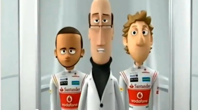 F1, Formel 1, Formel1, funny, Jenson Button,  Lewis Hamilton, lustig, Mc Laren, Mc Laren Animation, McLaren,  toon, tooned, toons, Trickfilm, wheel Nuts, WheelNuts, witzig, Ep 2, Ep 2, Episode 2, Episode 3