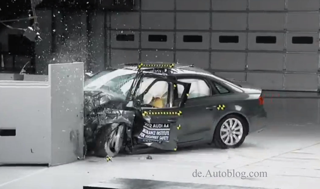 IIHS, Crashtest, overlap, Mercedes-benz, C-Klasse, Crashtest, video, versagt, duchgefallen, Audi, Mercedes, BMW, VW, 3er dreier, C-Klasse,