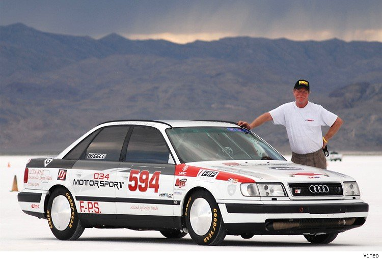 speed week, bonneville, jeff Gerner, audi s4, weltrekord, worldrecord, das schnellste Auto der welt, der schnellste Audi der Welt, S4, quatttro, Geschwindigkeitsrekord