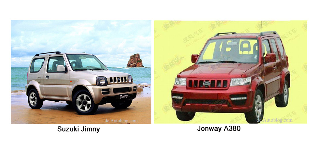 Suzuki, Jimny, Clone, Kopie, Copy, nachahmung, abkupfern, Design, Jonway, China, chinesischer Autobauer, Nachbau, 