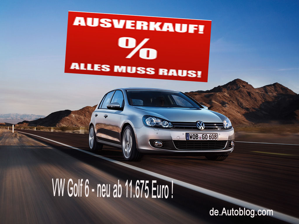 VW, Volkswagen, Golf, Golf VII, Golf VI, VW Golf VI, Rabatt, Hauspreis, Nachlass, Hnderpreis, Hndlerrabatt, neuwagen, Schleuderpreis, Tageszulassung, 