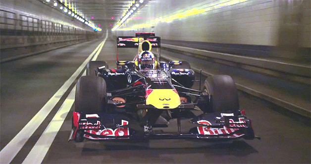 Formel 1, F1, Tunnel, sound, tube, video, red bull, vettel, motorpsort, klang,