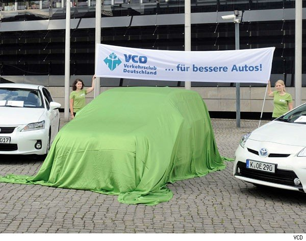 VCD, Verkehrsclub Deutschland, VW eco up!, sauber, Umwelt. emission, CO2, Schadstoffaussto,  Toyota, Hybrid, Klima, Top 10, Top ten 