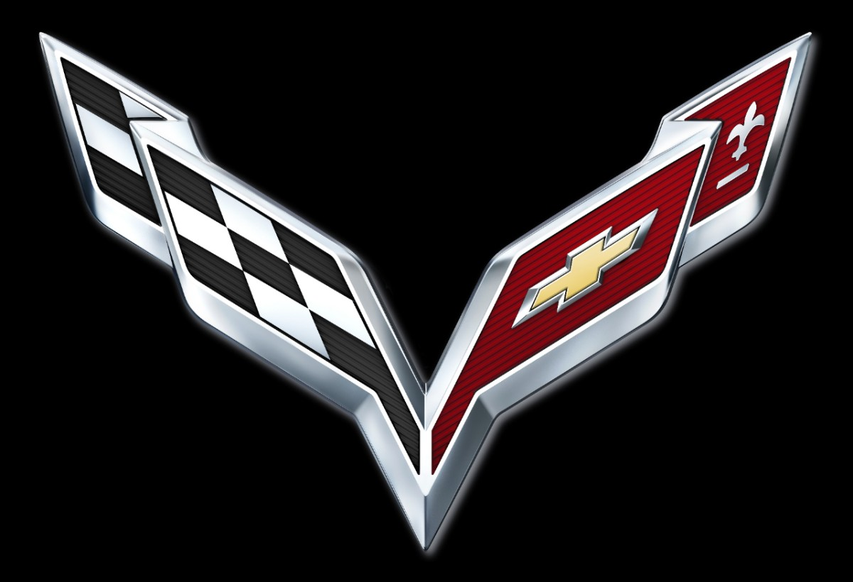 Chevrolet Corvette, Corvette, C6, C7, Logo, Doppel-Flaggen-Logo, Detroit, Debut, Debt,  Erlknig, spy shot, Premiere, Fotos, pics, crossed flags, emblem