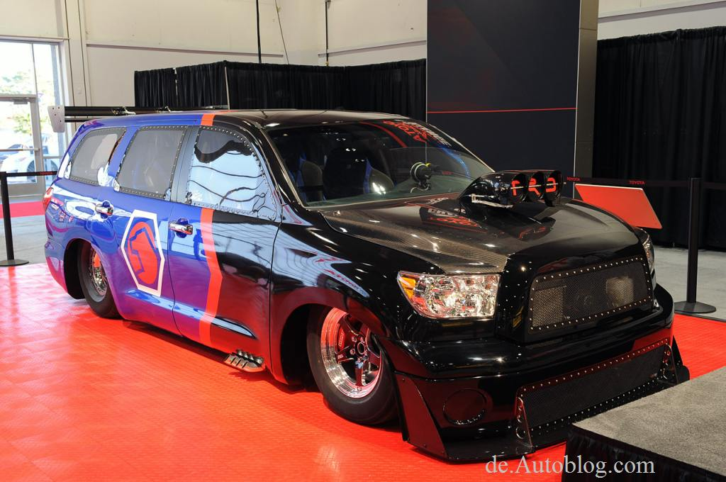 Sema, Tuner, Tuning show, 2012, Toyota Dragquoia, Dragster, Turbo, Bilder, Toyota Sequoia, Toyota DragQuoia